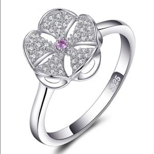 🆕S925 Sand Dollar Ring 7 with AAA Swiss Cz